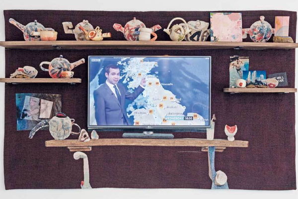 Laure Prouvost The Tv Manelpiece 2016 © Nathalie Obadia